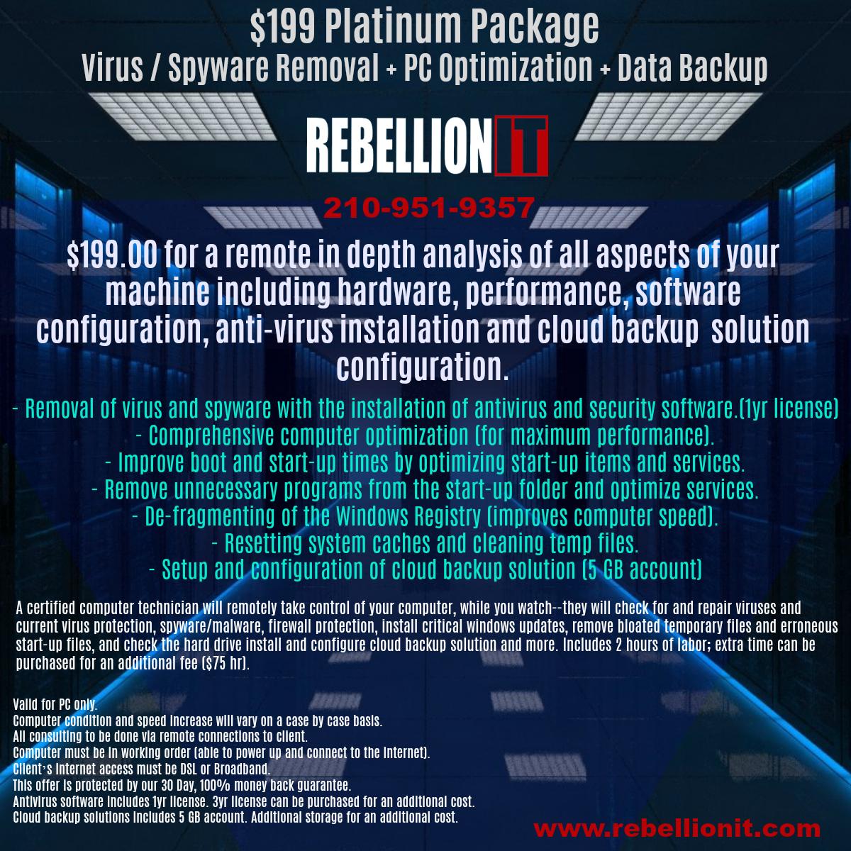$199 Platinum Package